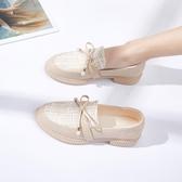 樂福鞋小香風小皮鞋女學生仙女鞋子韓版潮流單鞋2020新款春夏百搭樂福鞋 JUST M