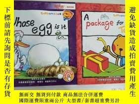 二手書博民逛書店Whose罕見egg is it +A Package for teddy )兩冊合售【實物拍圖,內頁幹凈】Y