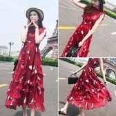 裙子 雪紡洋裝新款顯瘦辣妹裝性感流行仙女裙超仙網紅長裙子