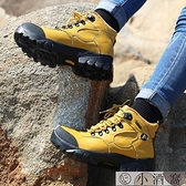 登山鞋女高幫防水防滑牛皮越野爬山鞋耐磨戶外運動沙漠徒步靴【小酒窩服飾】