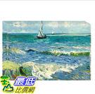 [COSCO代購] W121515 梵谷-海濱的漁船 松木框油畫 60x90CM