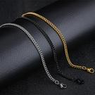 《 QBOX 》FASHION 飾品【N100N63】精緻個性簡約環扣圈鈦鋼項鍊子/鋼鍊條/配鍊(三色)