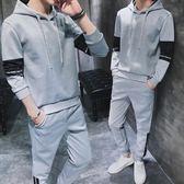 兩件套男士秋季連帽衛衣運動套裝青少年韓版潮流修身衣服休閒男裝  9號潮人館