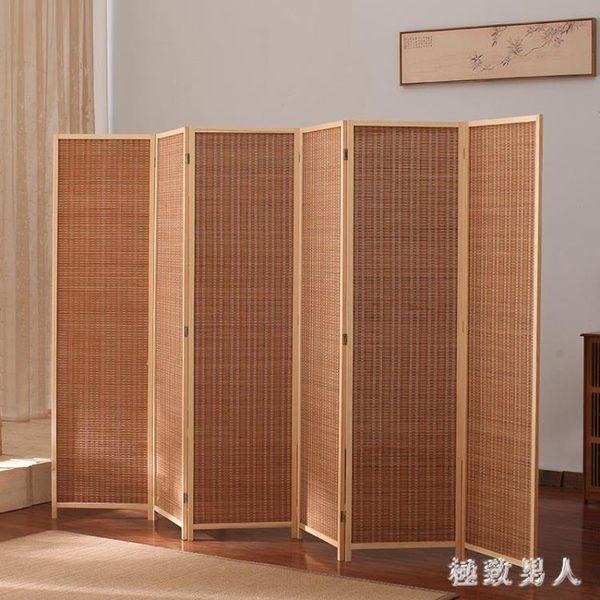 屏風隔斷折疊移動客廳簡約現代折屏簡易經濟小戶型飯店裝飾簾推拉TA6674【極致男人】