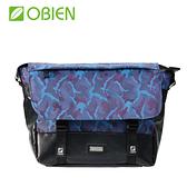 【OBIEN】都會型萬用迷彩小郵差包 - 迷彩藍
