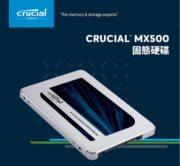 美光 Micron Crucial MX500 1TB 1000G SSD SATAⅢ 固態硬碟