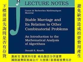 二手書博民逛書店Stable罕見Marriage And Its Relation To Other Combinatorial