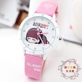可愛兒童手錶女童女孩卡通小學生防水石英錶錶電子錶時尚正韓