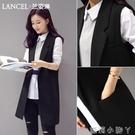 西裝馬甲女2020夏季新款韓版背心無袖百搭馬夾中長款坎肩外套薄款【蘿莉新品】