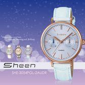 【人文行旅】Sheen   SHE-3054PGL-2AUDR 個性甜美 34mm 晶鑽