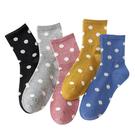 中筒襪-正韓糖果色系馬卡龍色點點棉質中筒襪 波點長襪 羊毛襪【AN SHOP】