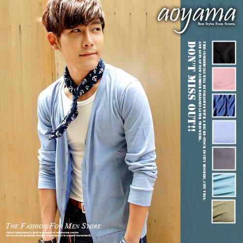 薄外套 青山AOYAMA]【WA678】韓版牛仔褲穿搭輕薄情侶款開扣式棉質小外套/罩衫任選7色