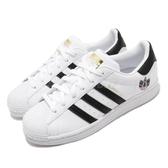 adidas 休閒鞋 Superstar W 白 黑 女鞋 貝殼頭 三葉草圖騰 運動鞋【ACS】 FX8543