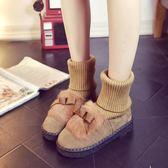 孕婦鞋毛毛鞋兩穿毛毛雪地靴襪子鞋短靴子平底保暖棉質鞋加絨加厚 九週年全館柜惠