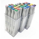 美國croma 軟毛雙頭 X5 麥克筆 透明盒 36色/組 4811-036