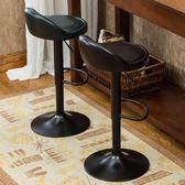 吧台椅歐式酒吧椅子升降旋轉高腳凳子前台吧凳靠背鐵藝吧椅xw【1件免運】