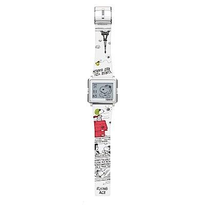手錶 Smart Canvas 史努比 王牌飛行員 電子紙腕錶 (白色)手錶
