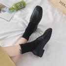 2020春季黑色秋鞋平底英倫小皮鞋女單鞋樂福鞋一腳蹬豆豆鞋休閒鞋 【端午節特惠】