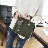 包包新款韓版女士簡約時尚手提包女包小包包單肩斜背包小方包【全館免運】