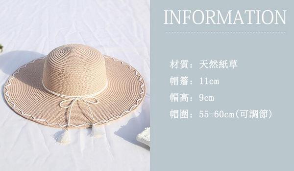 草帽女 海邊遮陽沙灘帽 可折疊草編帽子 小P