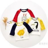寶寶T恤潮0秋季1歲半2男3女4上衣6到12個月5嬰兒秋裝8小童打底衫9