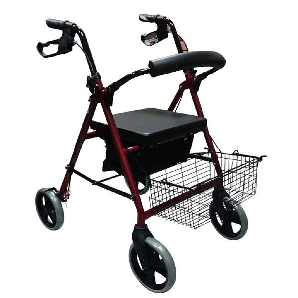 樟宜 機械式輪椅 (未滅菌) 富士康FZK833四輪車-帶輪助行器
