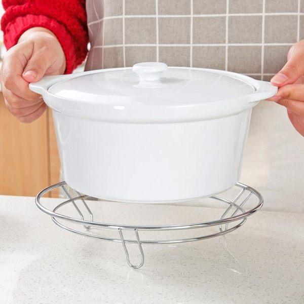 [超豐國際]鐵藝圓形鍋架隔熱墊炒鍋架 廚房置物架收納架金屬防燙架