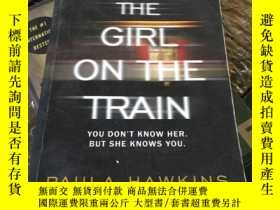 二手書博民逛書店英文原版罕見The Girl on the Train by P