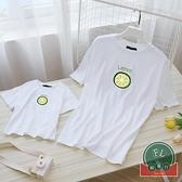 親子裝母女裝短袖t恤夏裝韓版一家四口裝母子【聚可爱】