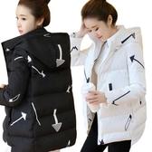棉衣女短款印花連帽加肥加大碼胖MM200斤羽絨棉服外套加厚保暖