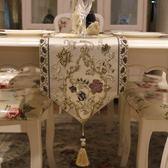 現貨桌旗 現代簡約茶幾桌旗歐式刺繡美式餐桌布藝長條裝飾蓋布桌台布床尾 晶彩生活2-12