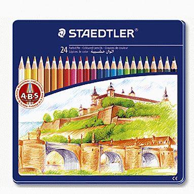 德國施德樓STAEDTLER Noris Club六角筆桿色鉛筆24色城堡編*MS145CM24