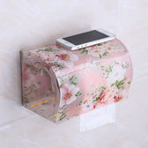 免打孔 廁所衛生間紙巾盒卷紙架廁紙盒塑料亞克力防水 免打孔創意手紙盒【黑色地帶】