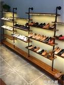 店鋪鞋架展示架復古服裝店包包架陳列架上牆童鞋架落地式女鞋貨架QM 藍嵐