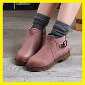 女童靴子2019秋冬季兒童棉靴馬丁靴寶寶短靴中大童皮靴英倫加絨潮