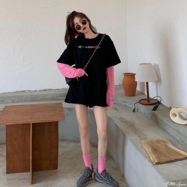 長袖T恤女薄款中長款防曬衫2020新款夏季內搭疊穿打底衫上衣ins潮 中秋節全館免運
