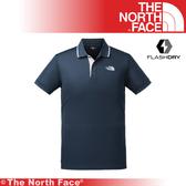 【The North Face 美國 男 排汗短POLO衫《藍》】3CJI/吸濕排汗透氣/POLO衫/上衣/休閒