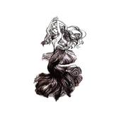 限定款刺青貼紙黑白性感蕾絲美人魚持久疤痕遮瑕逼真防潑水男女刺青貼原宿刺青貼紙