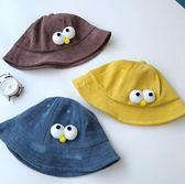 雙十二狂歡購  2018新款兒童漁夫帽秋冬燈芯絨女童盆帽卡通男童1-3歲潮寶寶帽子