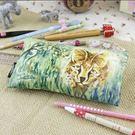 原創設計筆袋 水彩 動物包袋 豹貓 文具收納袋 限量發售