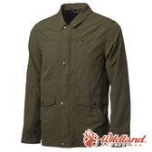 【wildland 荒野】男 SUPPLEX抗UV帥氣外套-橄欖綠 0A61908 時尚 防風外套 抗紫外線 輕薄 耐磨 透氣 防曬
