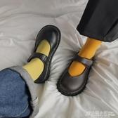 春季新款淺口小皮鞋女學生韓版百搭日系復古英倫風圓頭瑪麗珍 聖誕節鉅惠