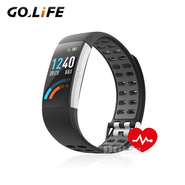 《GOLiFE》智慧運動心率手環 CareU (氣質黑)