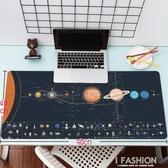 創意人類探索宇宙星球奧秘書桌墊黑色耐臟超大號寫字墊-ifashion