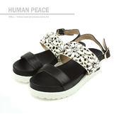 HUMAN PEACE 涼鞋 黑色 女鞋 no334