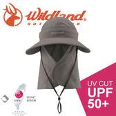 【Wildland 荒野 中性抗UV可脫式式遮陽帽《深卡灰》】W1025/春夏款/防曬帽/遮陽帽/登山/露營★滿額送
