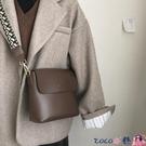熱賣斜背包 包包女2021新款潮網紅側背水桶包高級感法國小眾包百搭斜背包 coco