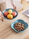 果盤 三件套 客廳果盤家用客廳茶幾零食盤塑料糖果盤干果瓜子盤水果盤【快速出貨八折鉅惠】