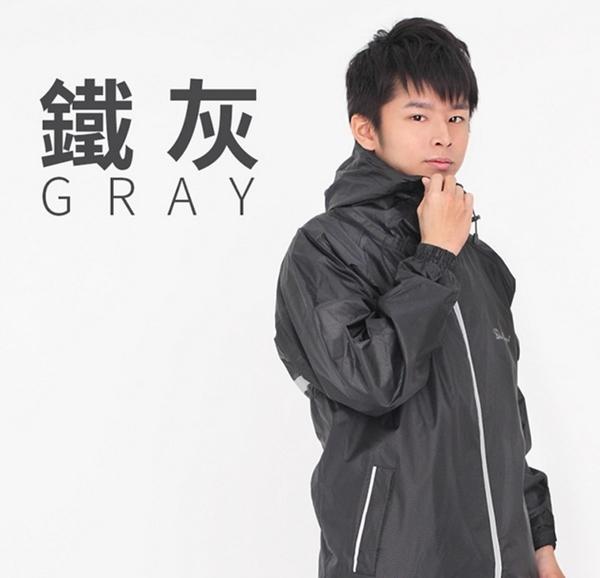 [安信騎士] 雙龍牌 蜜絲絨2.0防寒風雨衣 鐵灰 兩件式 雨衣 可拆式背心 超強防水 ER416620