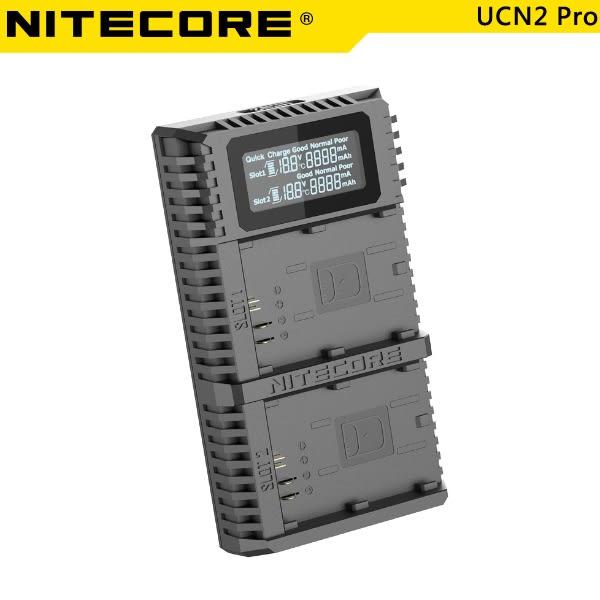 EGE 一番購】Nitecore 奈特柯爾【UCN2 Pro】LP-E6N USB雙槽智能充電器 活化檢測【公司貨】